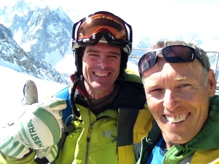 Guides Chris Fellows & Michael Silitch in Chamonix with Hestra